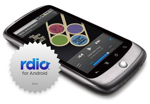 aplicatia rdio pentru muzica online