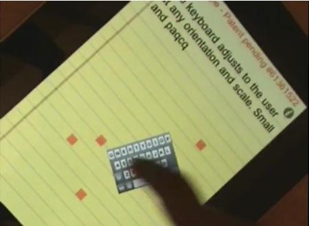 noua tastatura virtuala BlindType