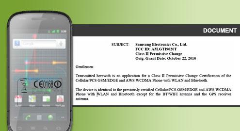 Samsung Nexus S GT-i9020T FCC