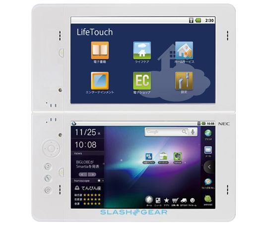 tableta nec lifetouch dual-screen
