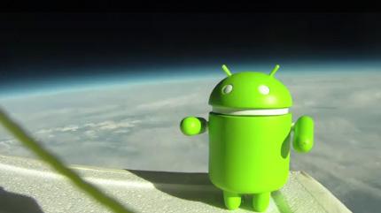 nexus s cu android in spatiu