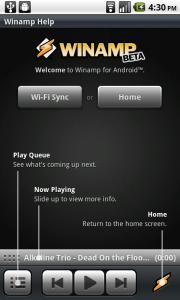 Winamp pentru Android beta