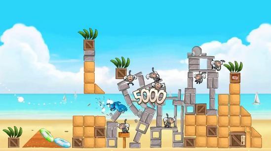 Angry Birds volei pe plaja
