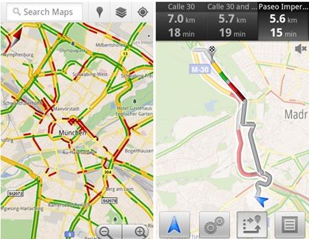 Google Maps cu suport pentru trafic