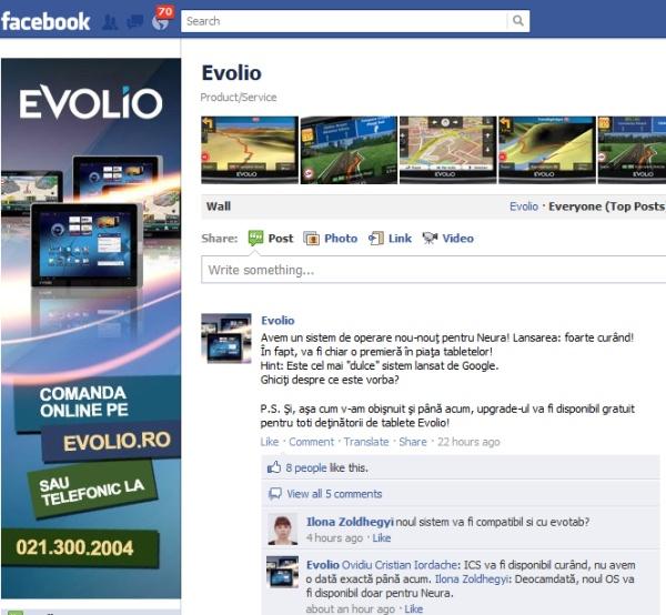 Evolio facebook