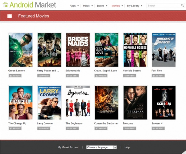 Filme Android Market