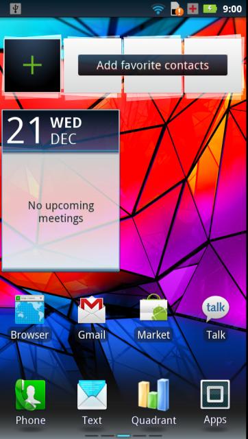Calendar widget - Screen Capture RAZR XT910