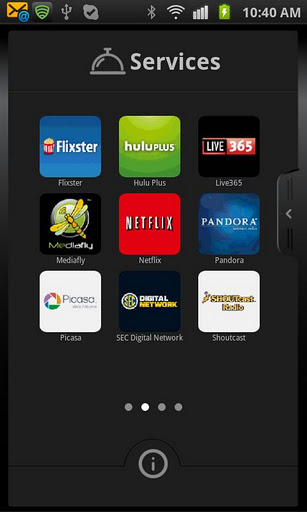 WD TV Remote - screen Android