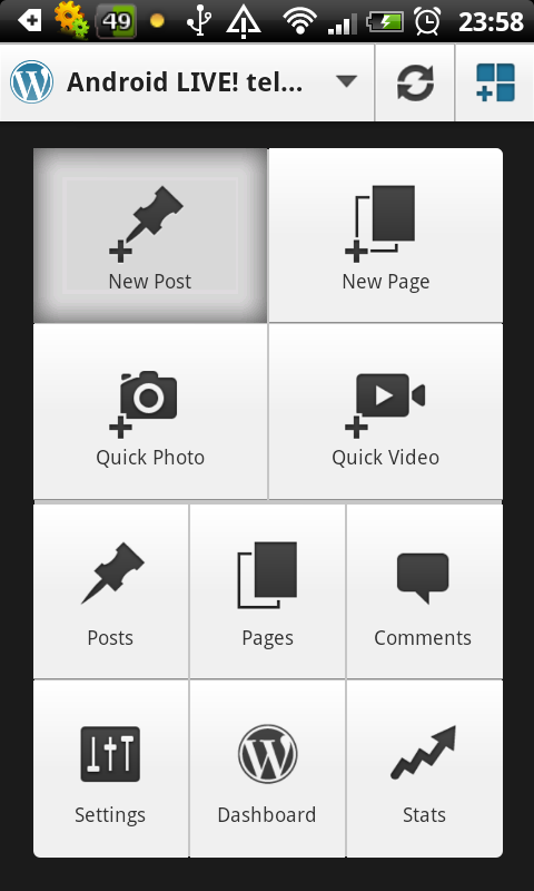 Wordpress 2 for Android