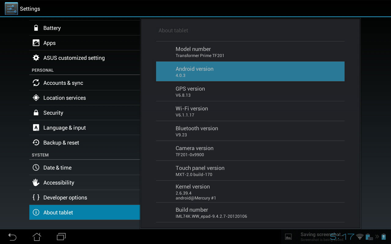 Update-ul la Android 4.0 ICS pe Transformer Prime