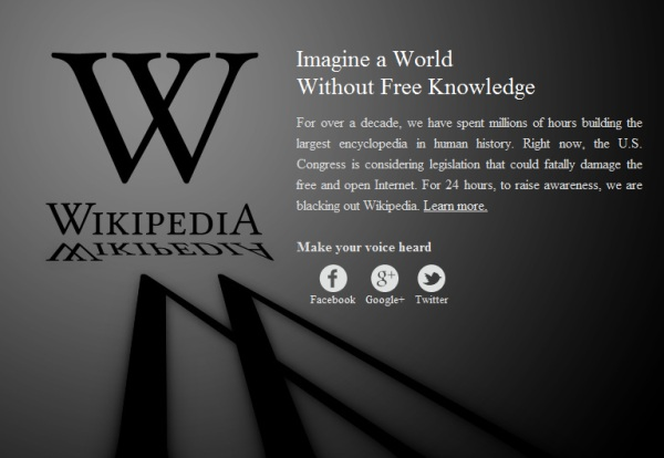 Protest Wikipedia
