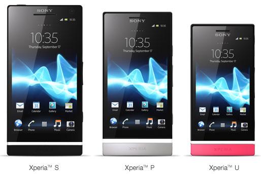 Telefoanele Sony Xperia S / P / U