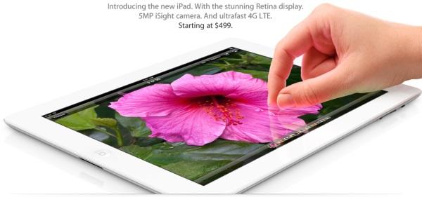 Apple new iPad 2012