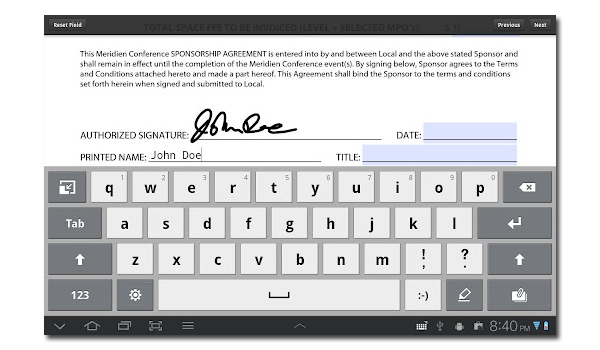 Adobe Reader eSignature