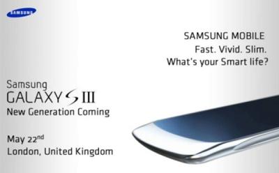 Lansare Samsung Galaxy S3