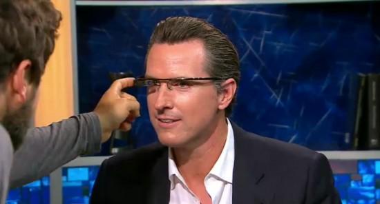 Google Glass la Newsom Show