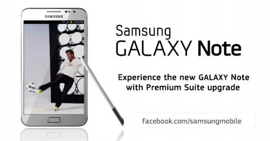 Samsung Galaxy Note Upgrade Premium Suite