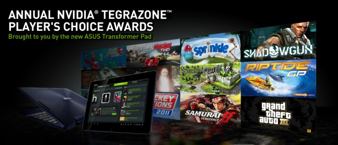 TegraZone Player's Choice Awards