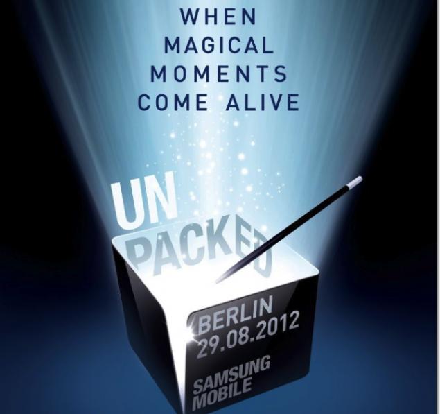 Samsung Unpacked 29 august