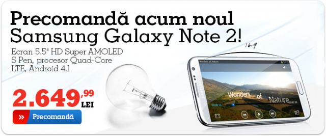 tableta Samsung Note 2 la Emag