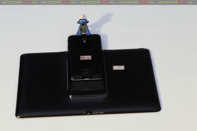 Culisarea telefonului în tabletă e simplă și pentru un ștrumf :)