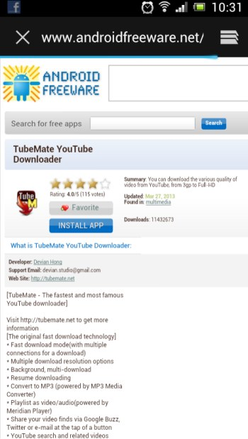Descărcare TubeMate YouTube Downloader