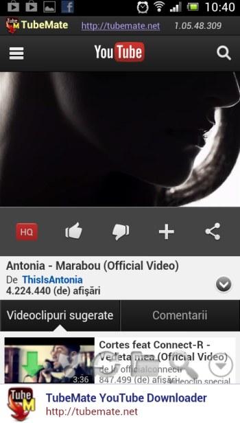 TubeMate YouTube - descărcare clip Youtube