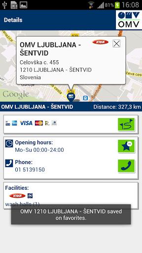 OMV Filling Station Finder