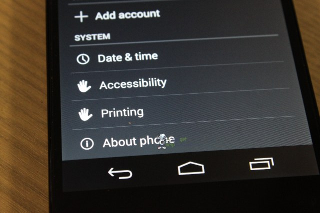 Android KitKat printing