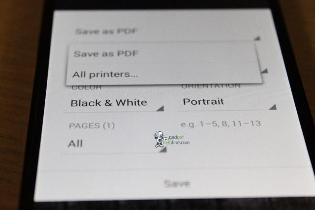 Android KitKat print
