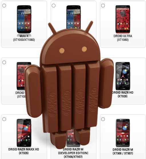 10 telefoane Motorola vor trece la KitKat