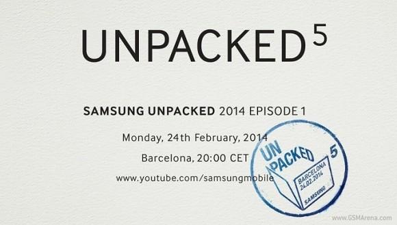 Samsung S5 unpack