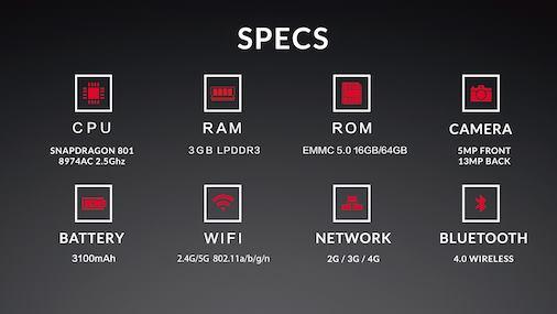 Specificații OnePlus One