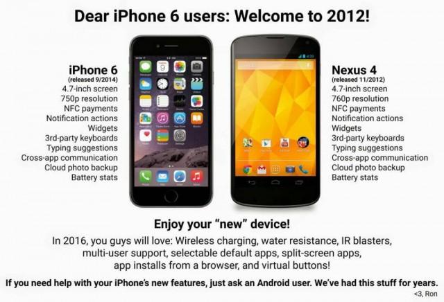 iPhone 6 vs Nexus 4