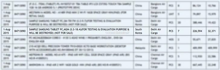 Tableta Samsung 18.4 inci