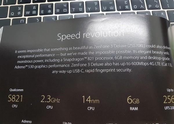 Specificatiile viitorului ASUS ZenFone 3 Deluxe sunt uimitoare