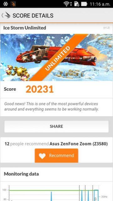 ASUS Zenfone Zoom în 3D Mark Unlimited