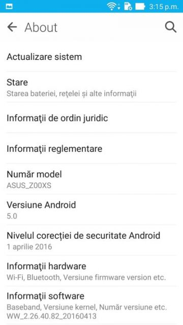 Software ASUS Zenfone Zoom