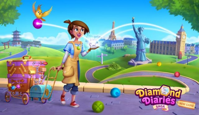 King a lansat Diamond Diaries Saga, un joc bazat pe legile fizicii