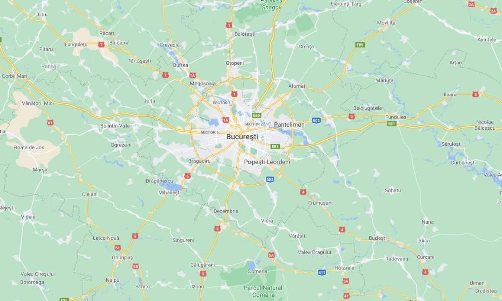 Bucureștiul în Google Maps