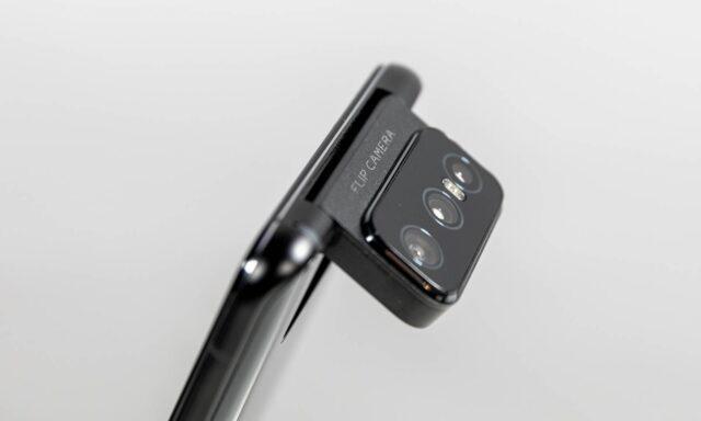 Flip Camera de pe ZenFone 7 Pro în rotire
